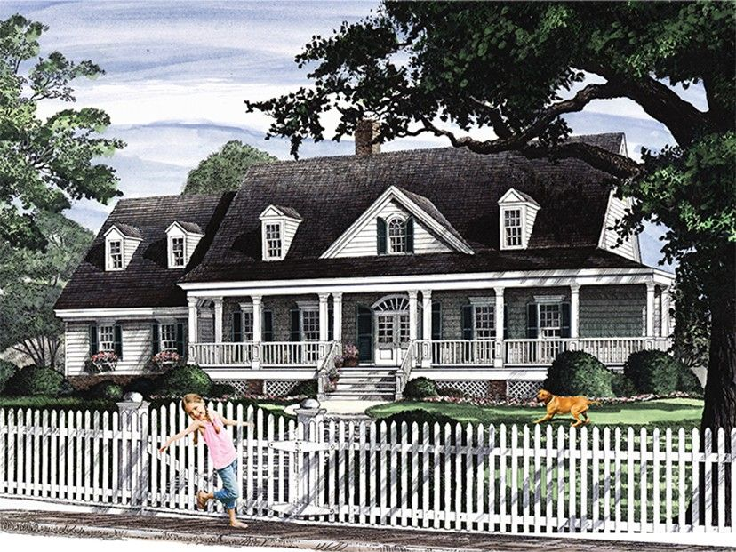 Country Home Plan with 2566 Square Feet