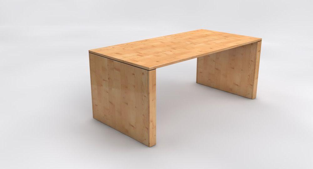 Schreibtisch Johannes Nach Mass Im Dekor Astfichte Tisch Schreibtisch Haus Deko