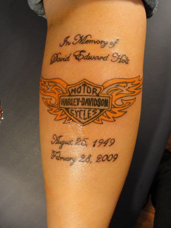 Harley Davidson Tattoos 35 Groovy Examples Harley Tattoos Tattoos Memorial Tattoos