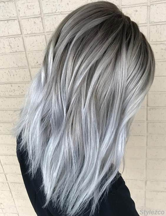 Perfect Combination of Grey & Silver Hair Colors for 2018 -