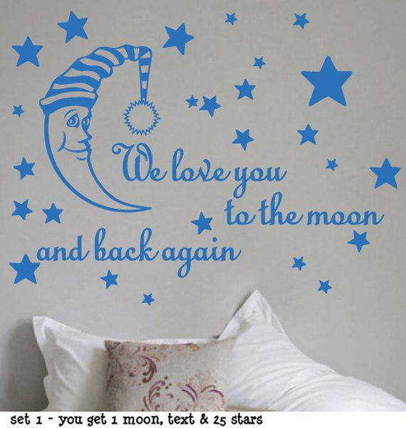 sticktak stickers we love you to the moon back again vinyl decal