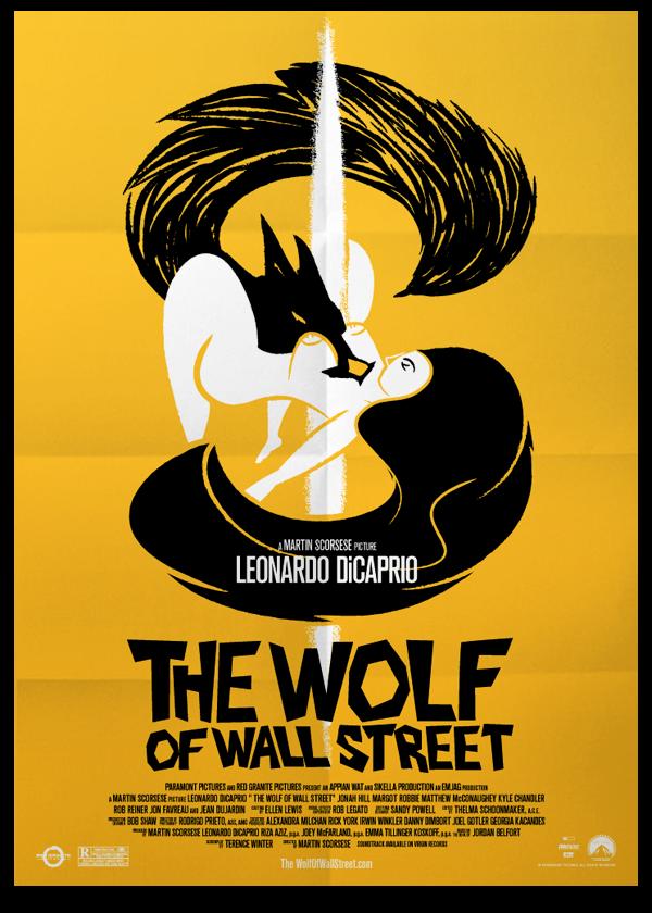 The Wolf of Wall Street - Fan art poster by Oscar Correa, via ...