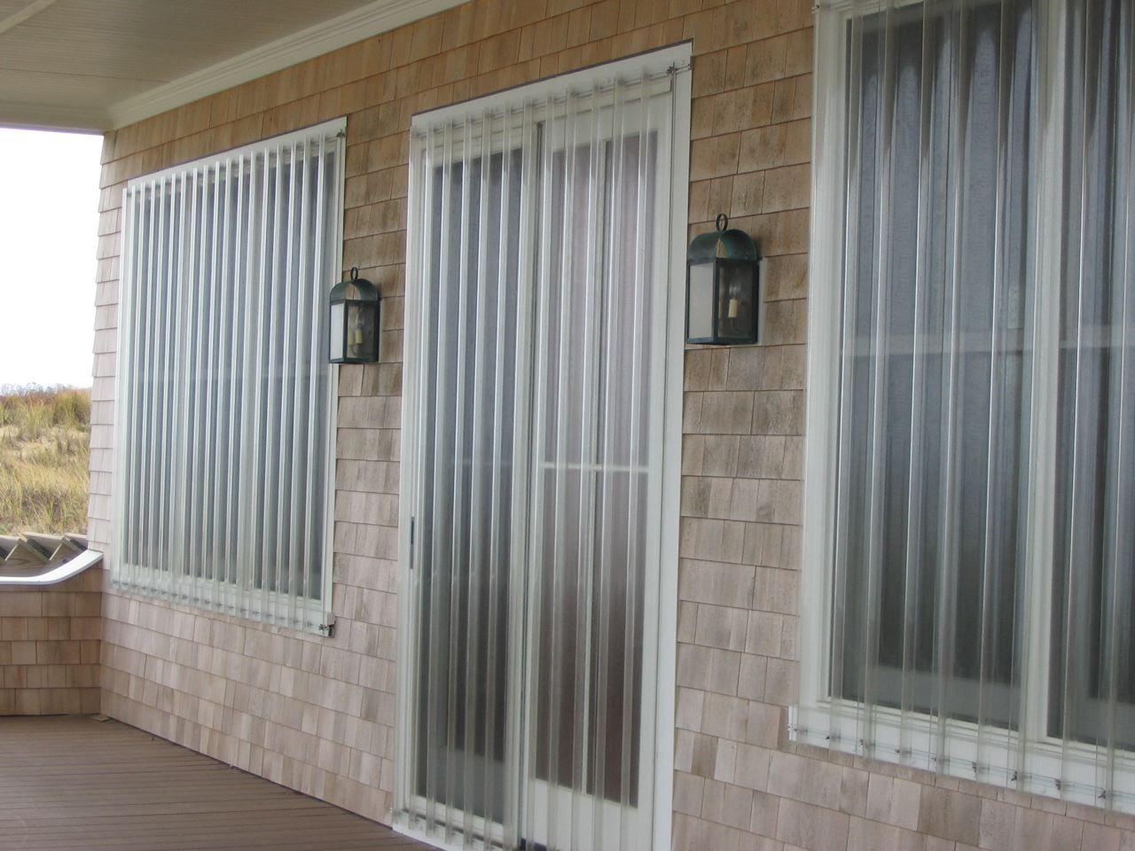 Vusafe Storm Panels Easily Fit Over Sliding Doors Oversized Doors And Custom Door Applications Patio Doors Interior Storm Windows Sliding Door Shutters