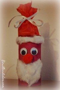 DIY Noël, père Noël en rouleau papier toilette #rouleaupapiertoilettenoel