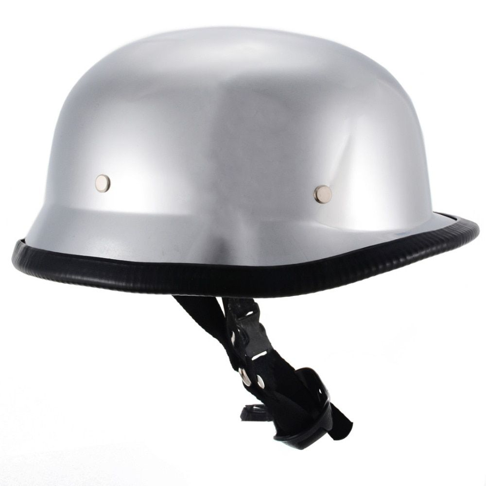 Mayitr Motorcycle Helmet Unique Size M L Xl German Style Half Face Dot German Helmet Chrome Leathersponge Vintage