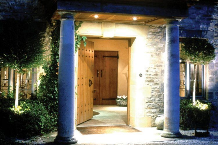 Country House Front Door Lighting Idea Outdoor Lights