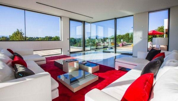 wohnideen-wohnzimmer-weiss-rot-modern-lichtdurchflutet   - bilder wohnzimmer rot