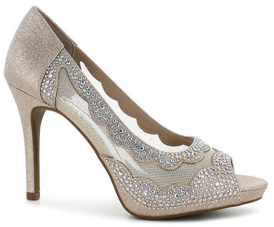 c3a16774cd3 Walk the Red Carpet in these Hot Tomato® Dress Shoes  br  rose gold  synthetic upper with glitter overlay