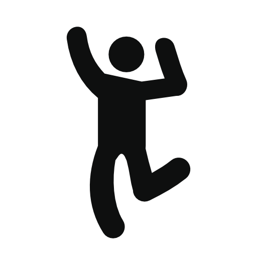 Dancing Human Silhouette Free Icon Typographic Logo Design Silhouette Free Icon