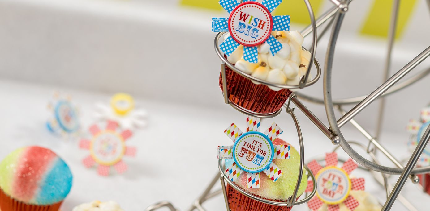 How To Make Birthday Carnival Popcorn Snow Cone Cupcakes