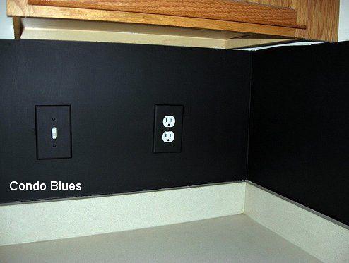 Condo Blues: Chalkboard Paint Kitchen Backsplash