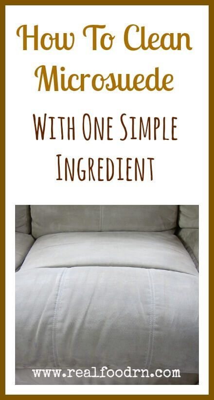 how to clean a microsuede couch with one simple ingredient rh pinterest com