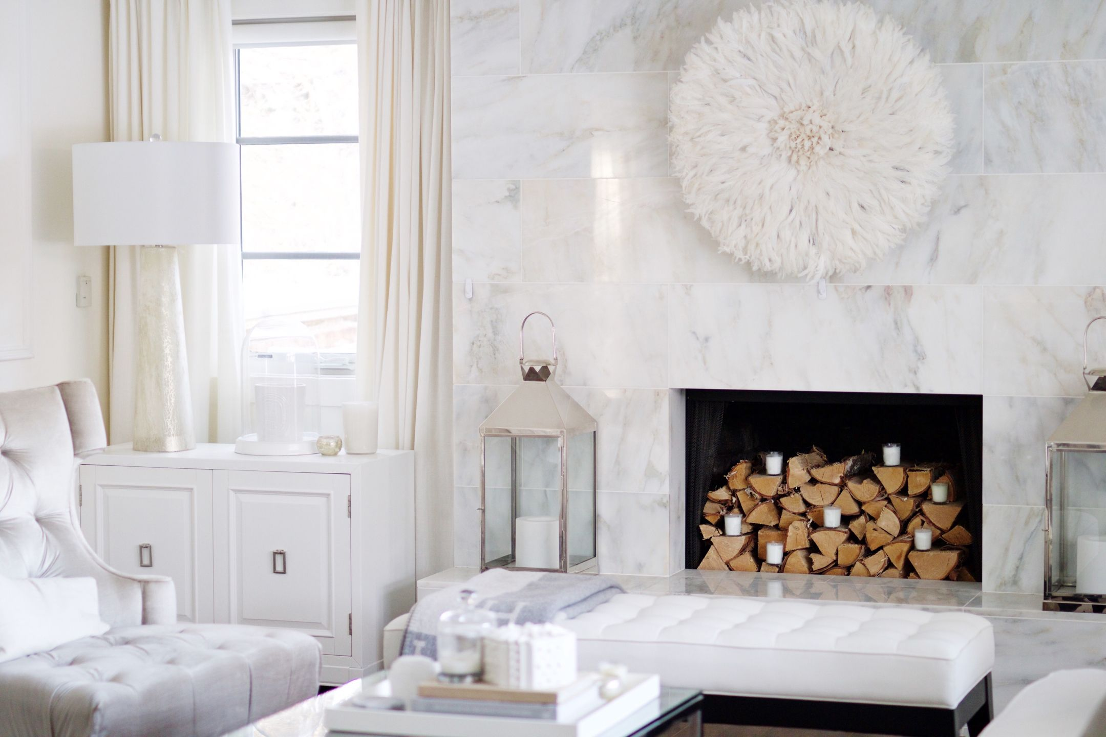 juju hat marble fire place all white home furnishings home rh pinterest com
