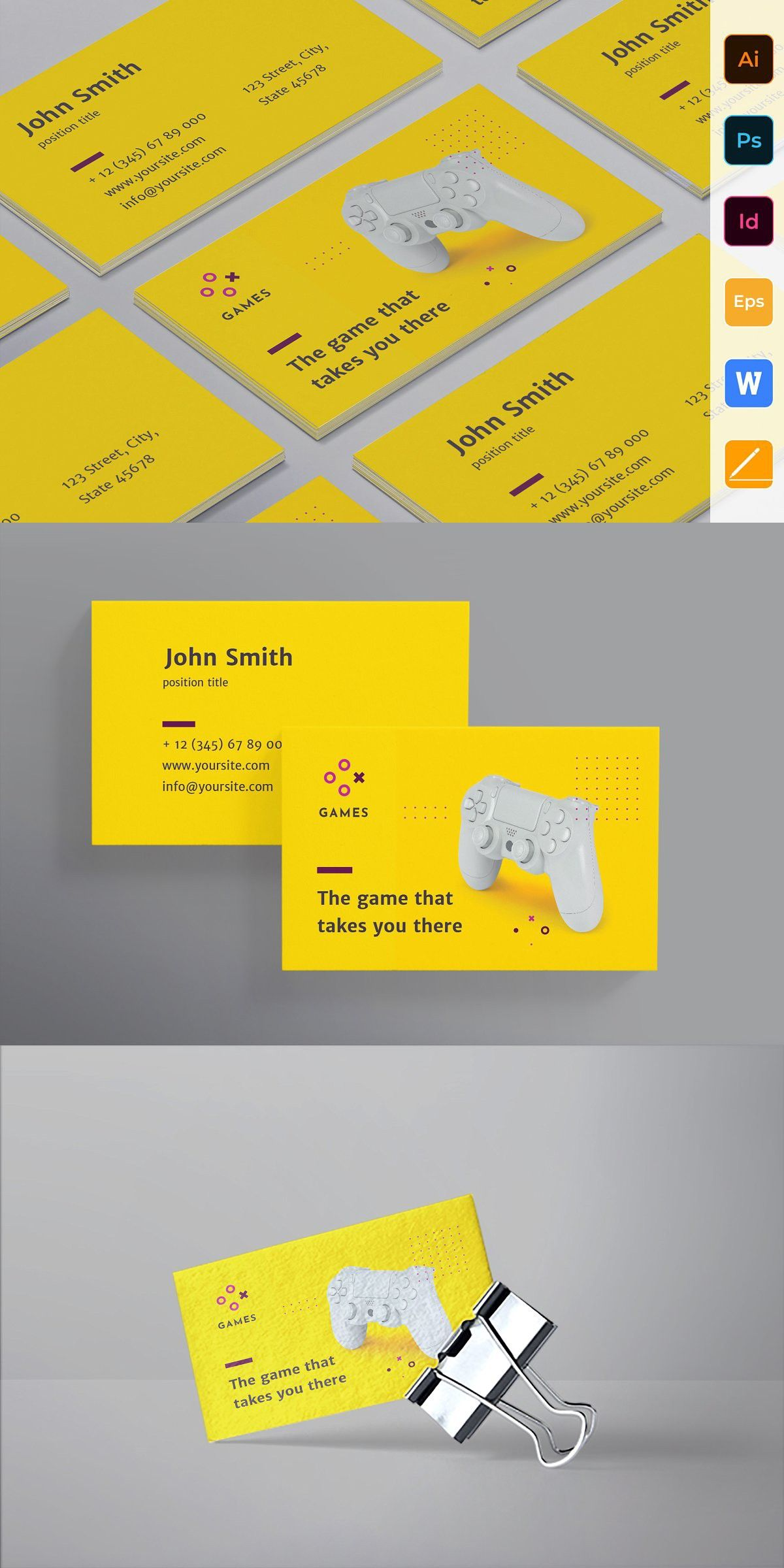 Gaming Company Business Card Company Business Cards Unique Business Cards High Quality Business Cards
