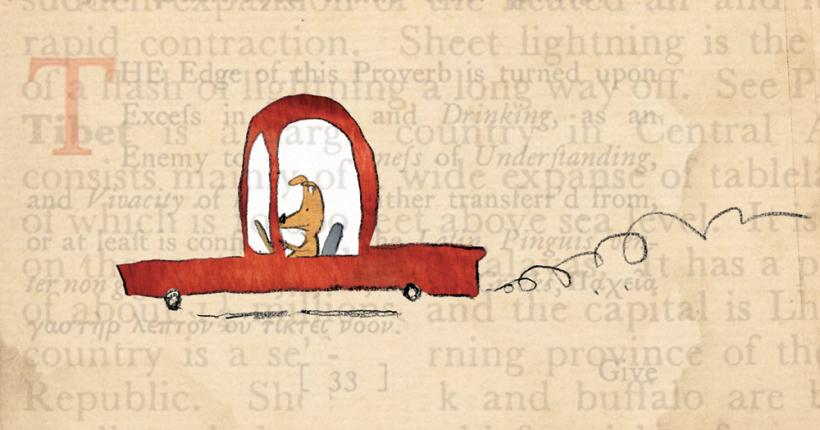 Dog Driving Car by Gus Gordon
