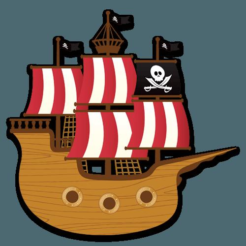 Pirate Ship Pirate Ship Pirates Book Folding Patterns