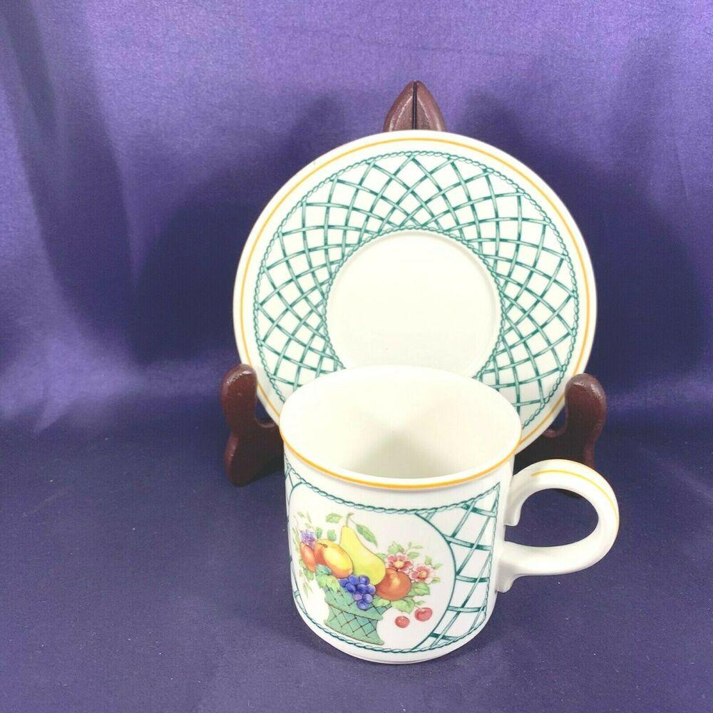 Villeroy /& Boch Basket Pattern Cup And Saucer Have Several Sets