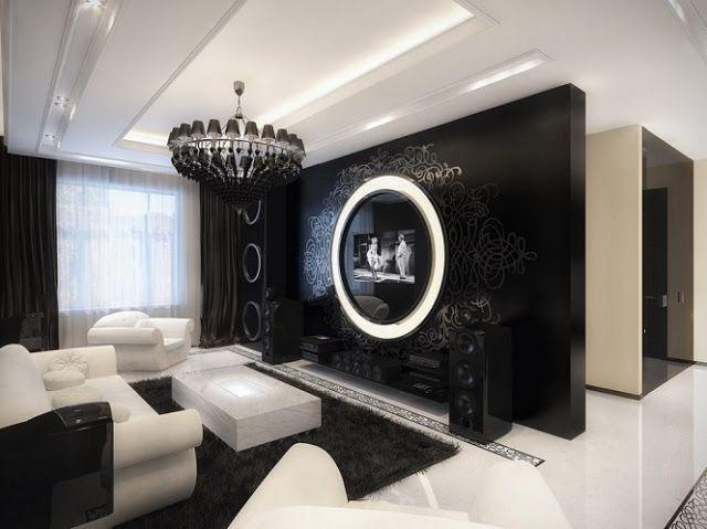 Sala comedor en blanco y negro vintage moderno by salasycomedores ...