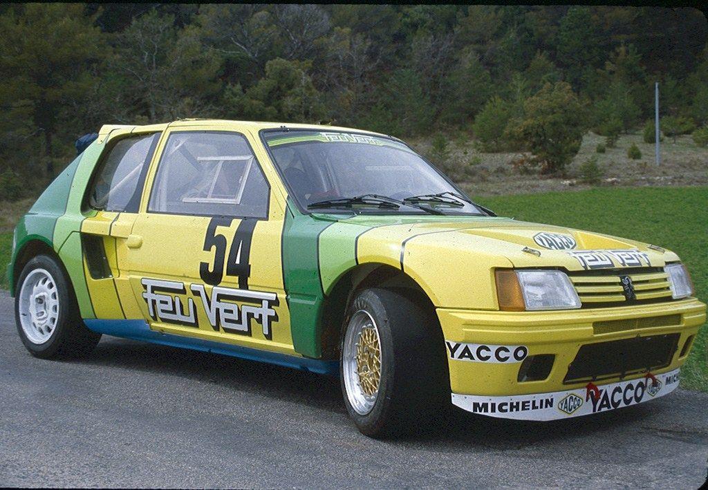 Jean-Christian Duby 205 T16 | Old Skool Rally Cars | Pinterest ...