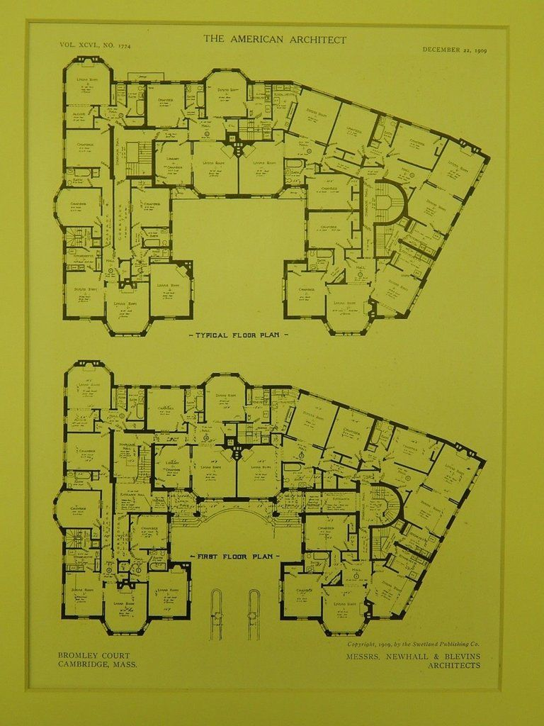 Floor Plans Bromley Court Cambridge MA 1909