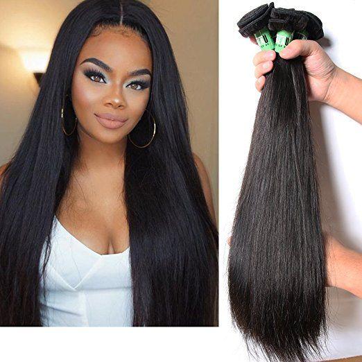 Msbeauty 7a Brazilian Straight Hair Weave 3 Bundles Total 300g Virgin Human Brazilian Straight Hair Weave Straight Human Hair Bundles Straight Weave Hairstyles
