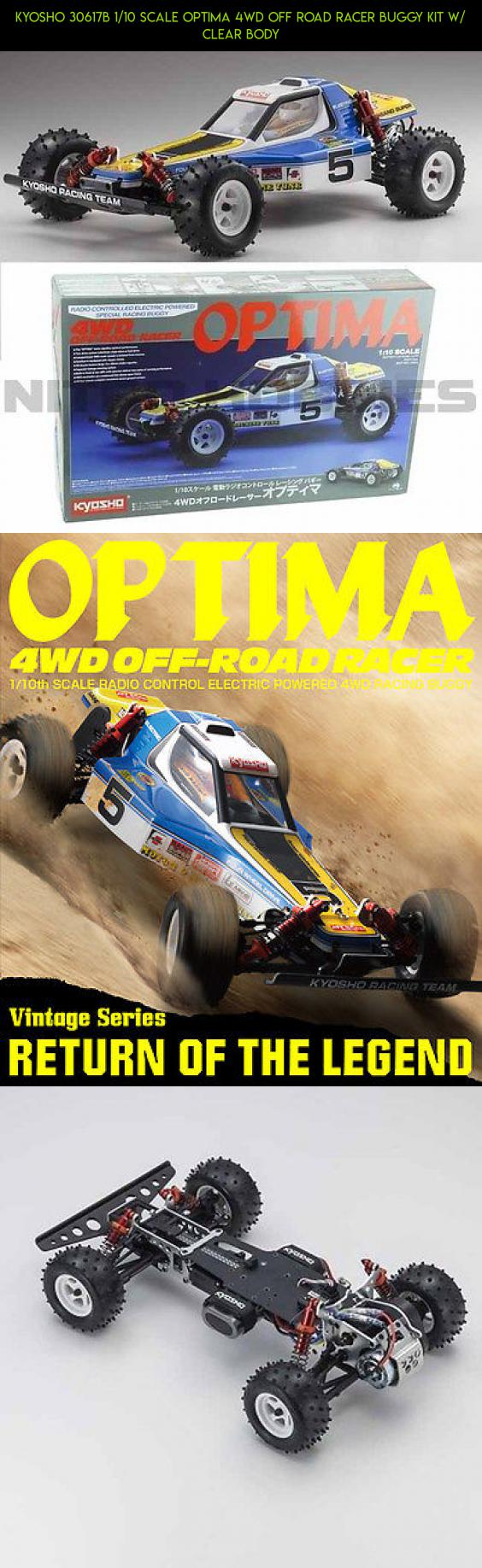kyosho 30617b 1 10 scale optima 4wd off road racer buggy kit w rh pinterest com