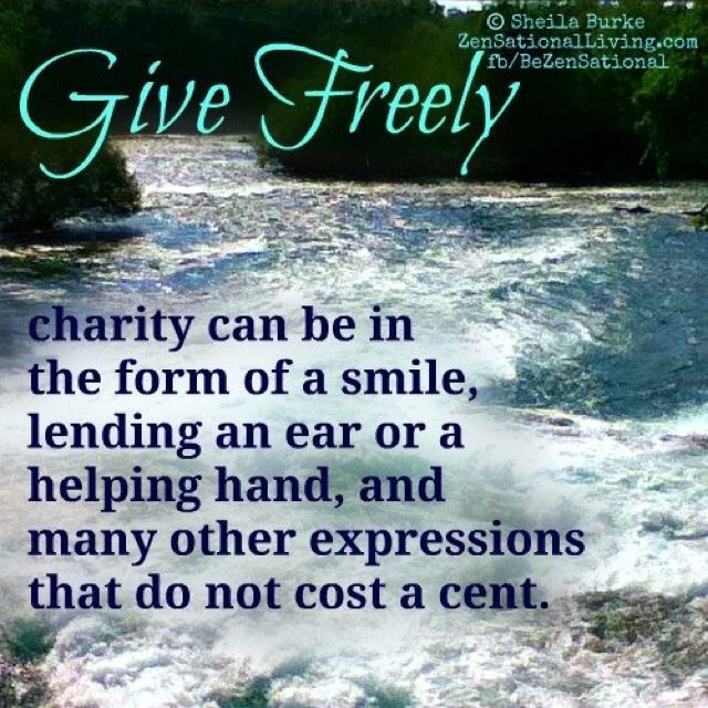 Charity-->doesn't have to be $$!