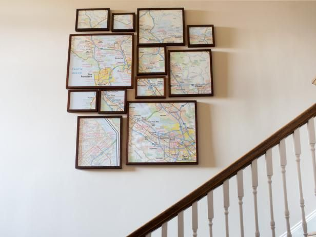 Learn How To Put A Modern Spin On Map Art By Using Multiple Frames Get The Step Instructions Hgtv
