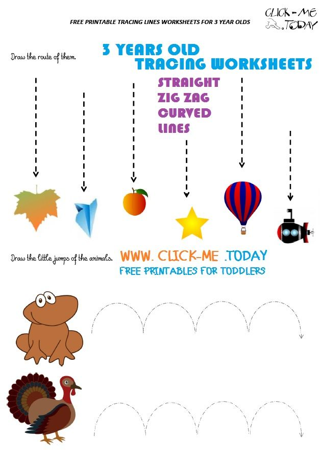 TRACING LINES WORKSHEETS FOR 3 YEAR OLD IN PDF in 2020 ...