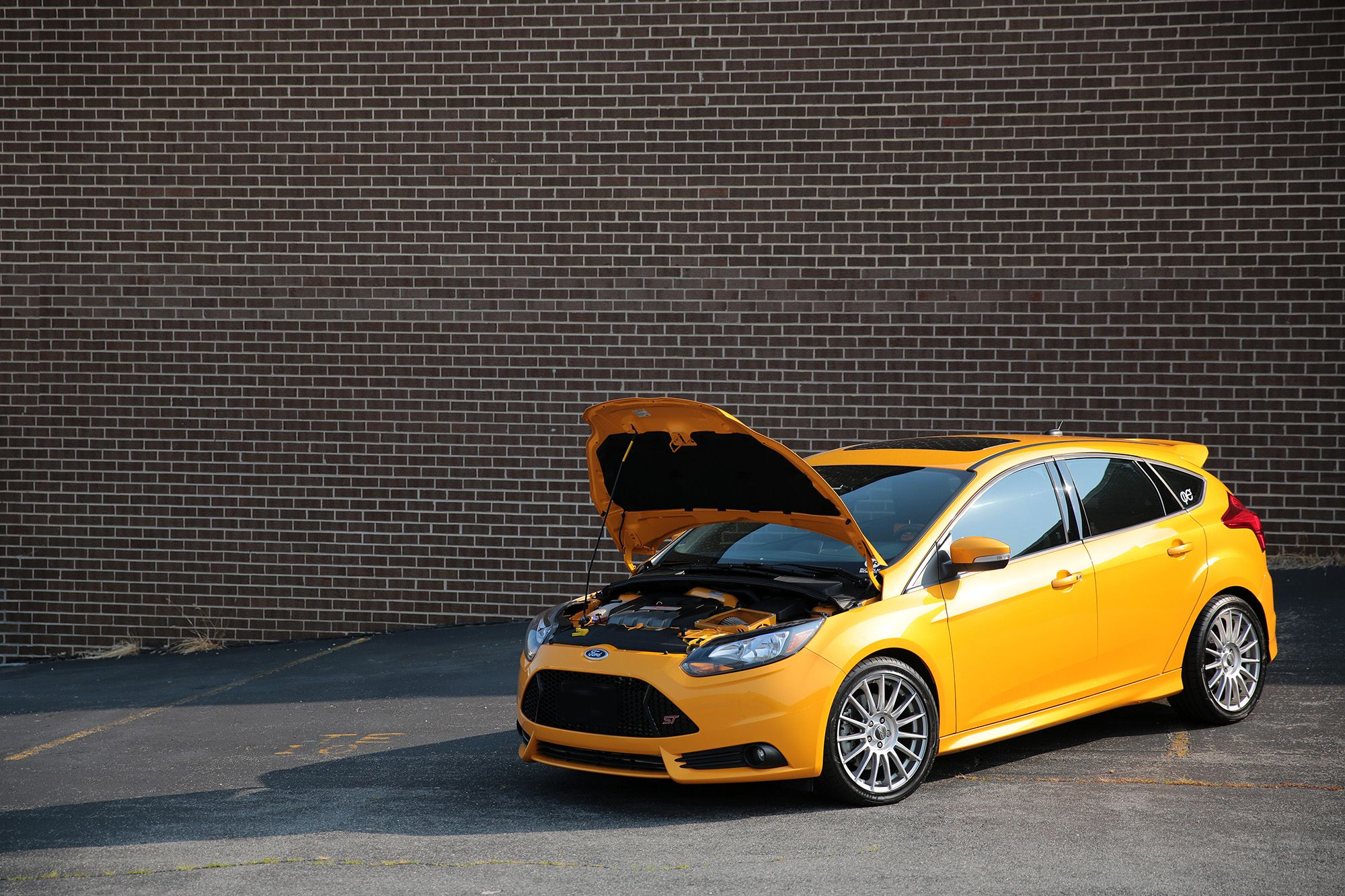 Ford Focus St Mk3 In Yellow Color Tangerine Scream Ford Focus St Ford Focus Ford