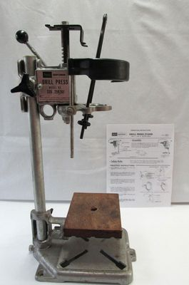 Vintage Sears Craftsman Bench Top Standing Hand Drill Press 335 259261 Craftsman Benches Sears Craftsman Drill Press