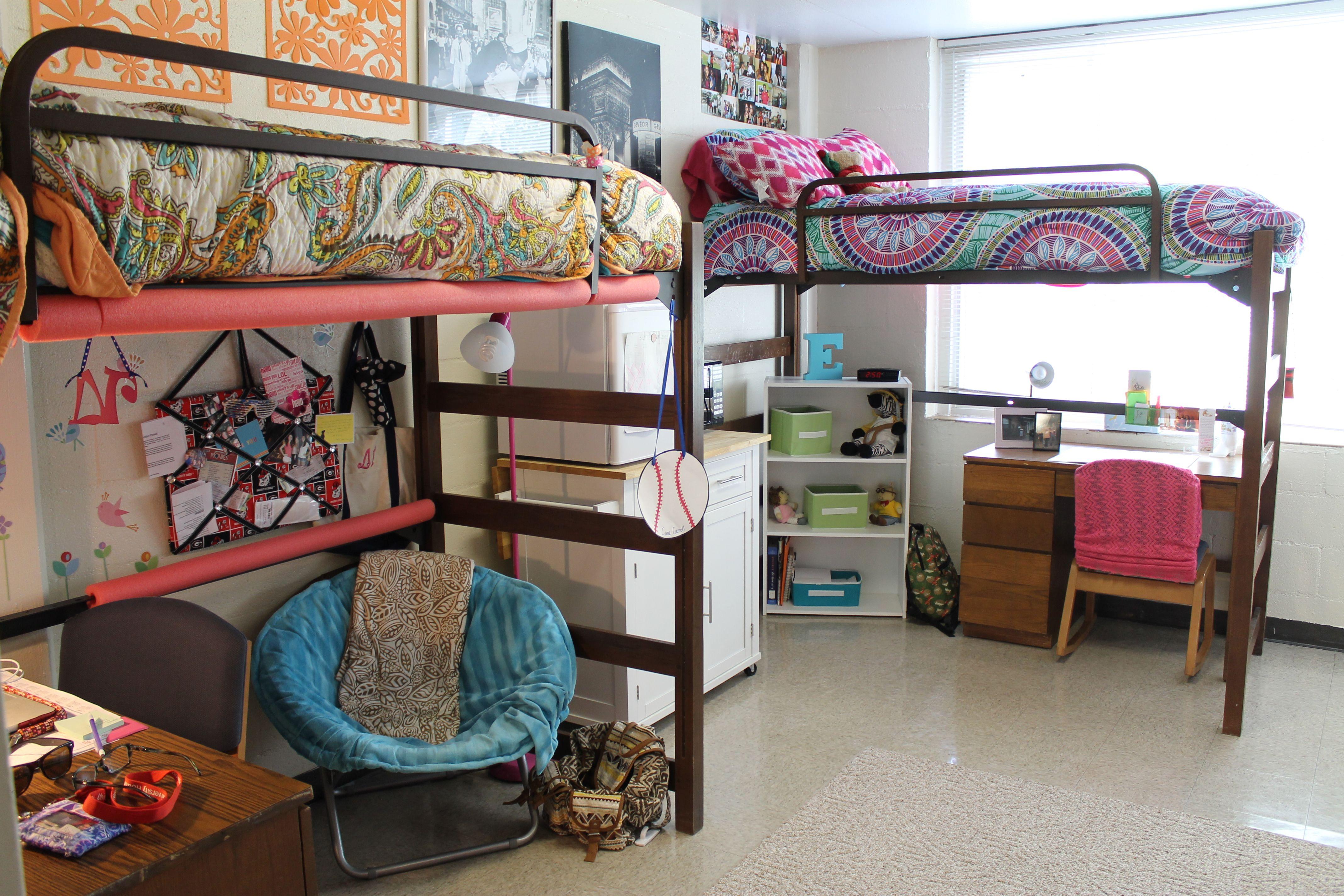 Dorm room loft bed ideas  My dorm room  UGA  Dorm Room Ideas  Pinterest  Dorm room Dorm