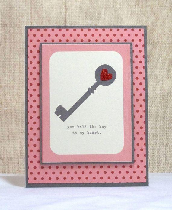 Key To My Heart Card Love Card Key Anniversary Card Etsy Love Cards Key To My Heart Heart Cards