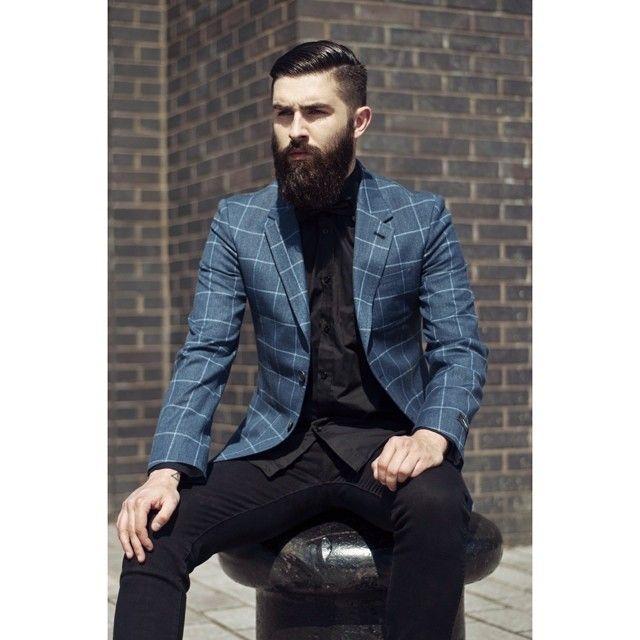 Chris John Millington - full thick dark beard and mustache beards bearded man men bearding mens' style model fashion suit hairstyle hair cut handsome #beardsforever