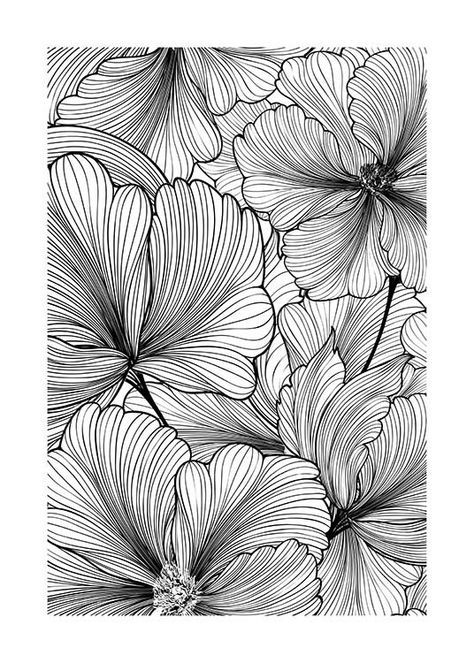 Floral Pattern Affiche