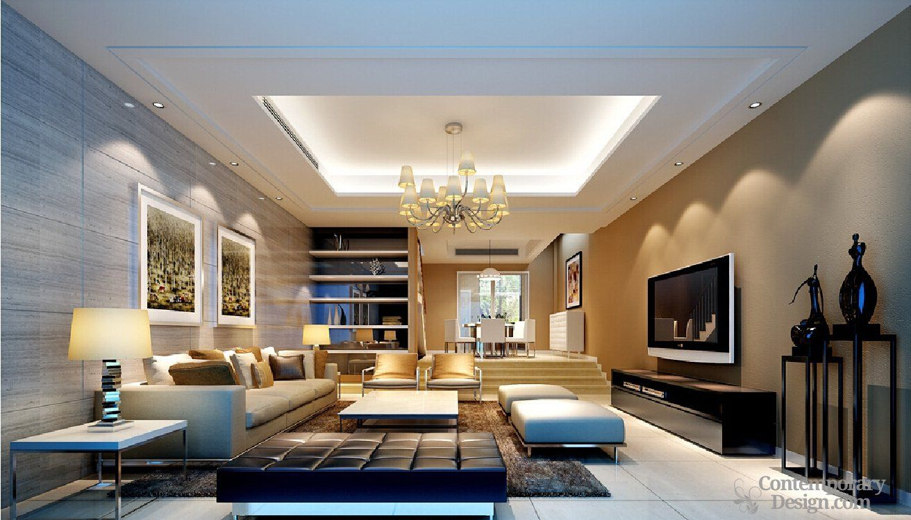 Living Room False Ceiling Designs Pictures Extraordinary An Area Rug Adds Texture To This Minimalist Design  Minimalist Decorating Inspiration