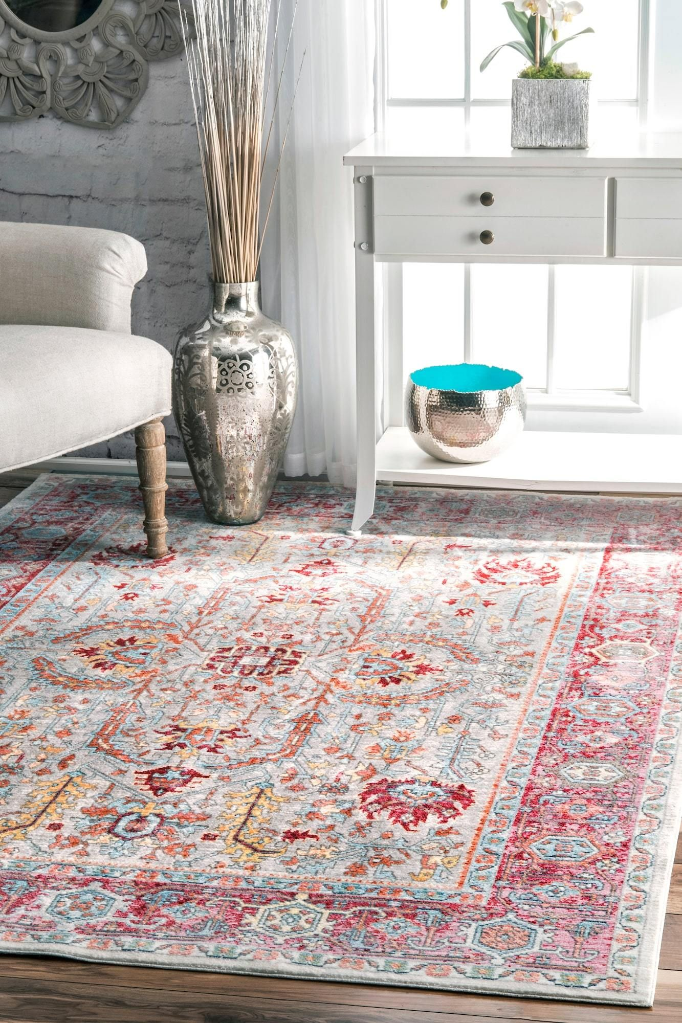 rug for living room size%0A nuLOOM Vintage Persian Edra Area Rug