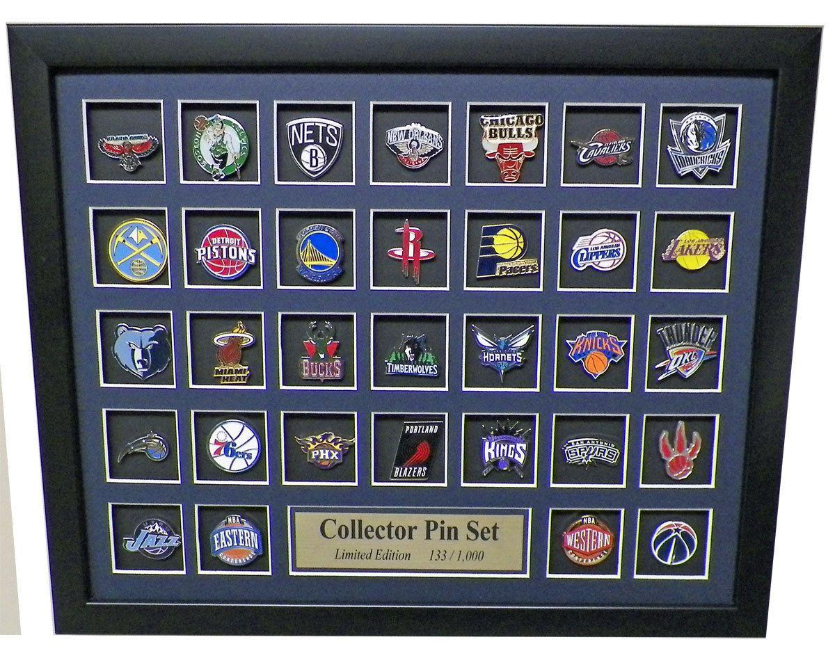 NBA Team Logo Collector Framed Pin Set