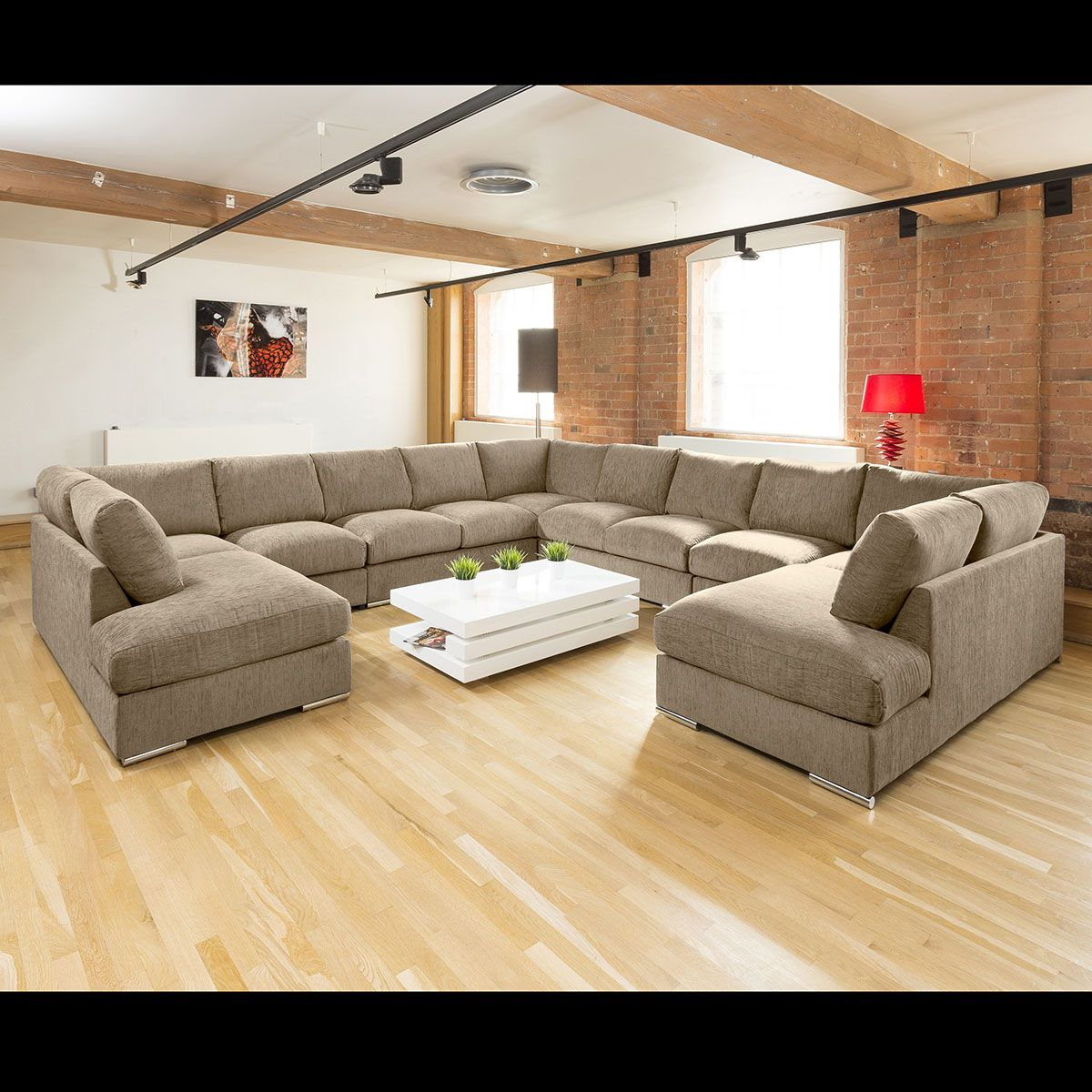 Best Extra Large Unique Sofa Set Settee Corner Group C Shape 400 x 300