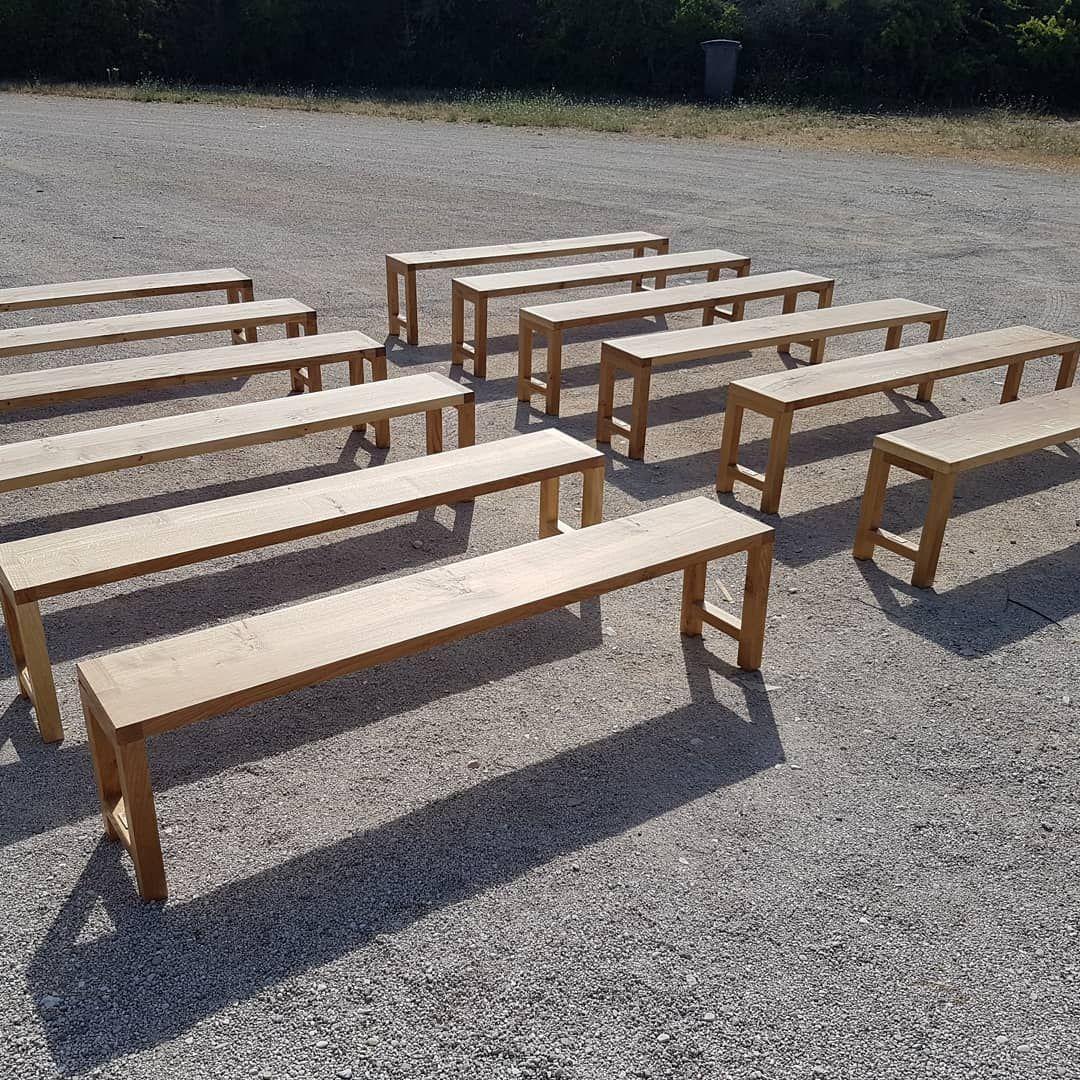 Fabrication Banc En Bois voila fabrication de 12 bancs démontables en chêne