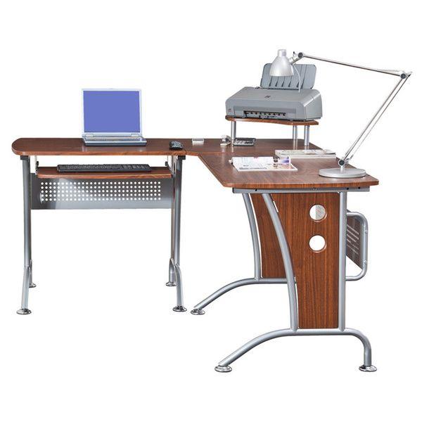 deluxe loft style l shaped computer desk apartment life computer rh pinterest com