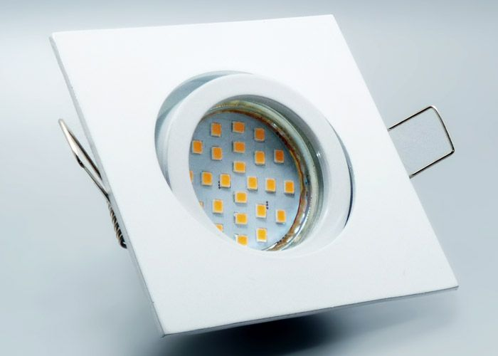 LED #Einbaustrahler Set mit Marken GU10 LED Spot Nextec 4 Watt Alu