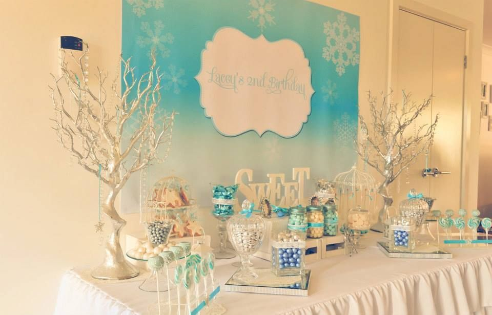 Laceys Winter Wonderland 2nd Birthday Party