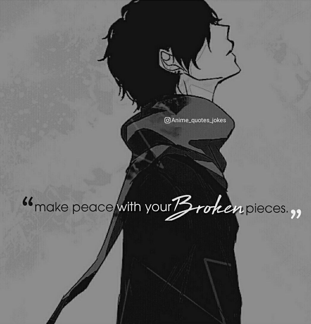 Pin On Anime Quotes Anime sad quotes wallpaper