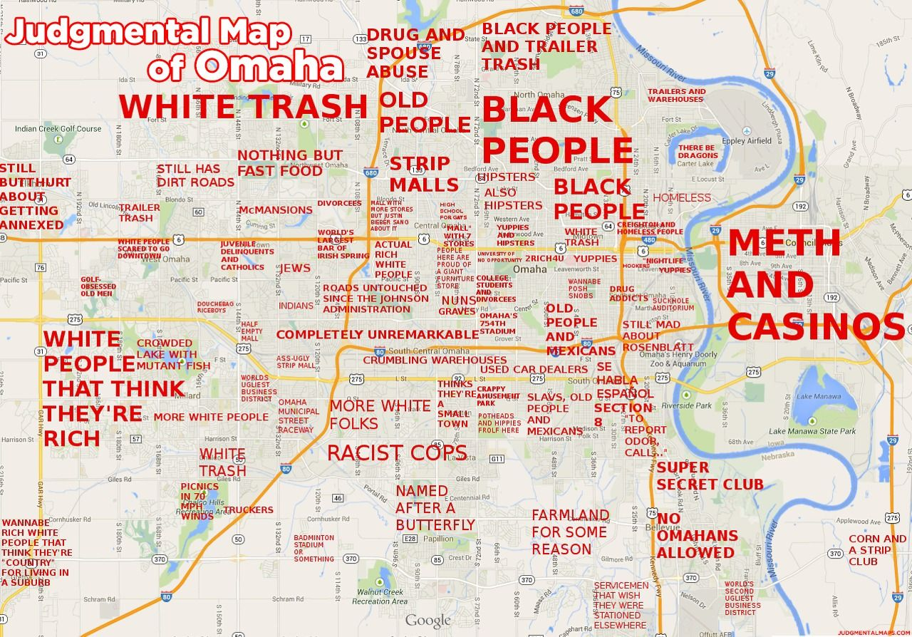 Omaha NE By NT Judgmental Maps Copr 2014 All Rights