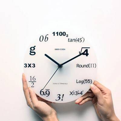 Wall Clock for the Math and Physics Geek | #Clock