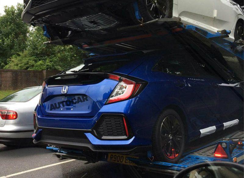 10th Gen Civic >> 2017 Honda Civic Hatchback Spied In Transit 10th Gen Civic Forum