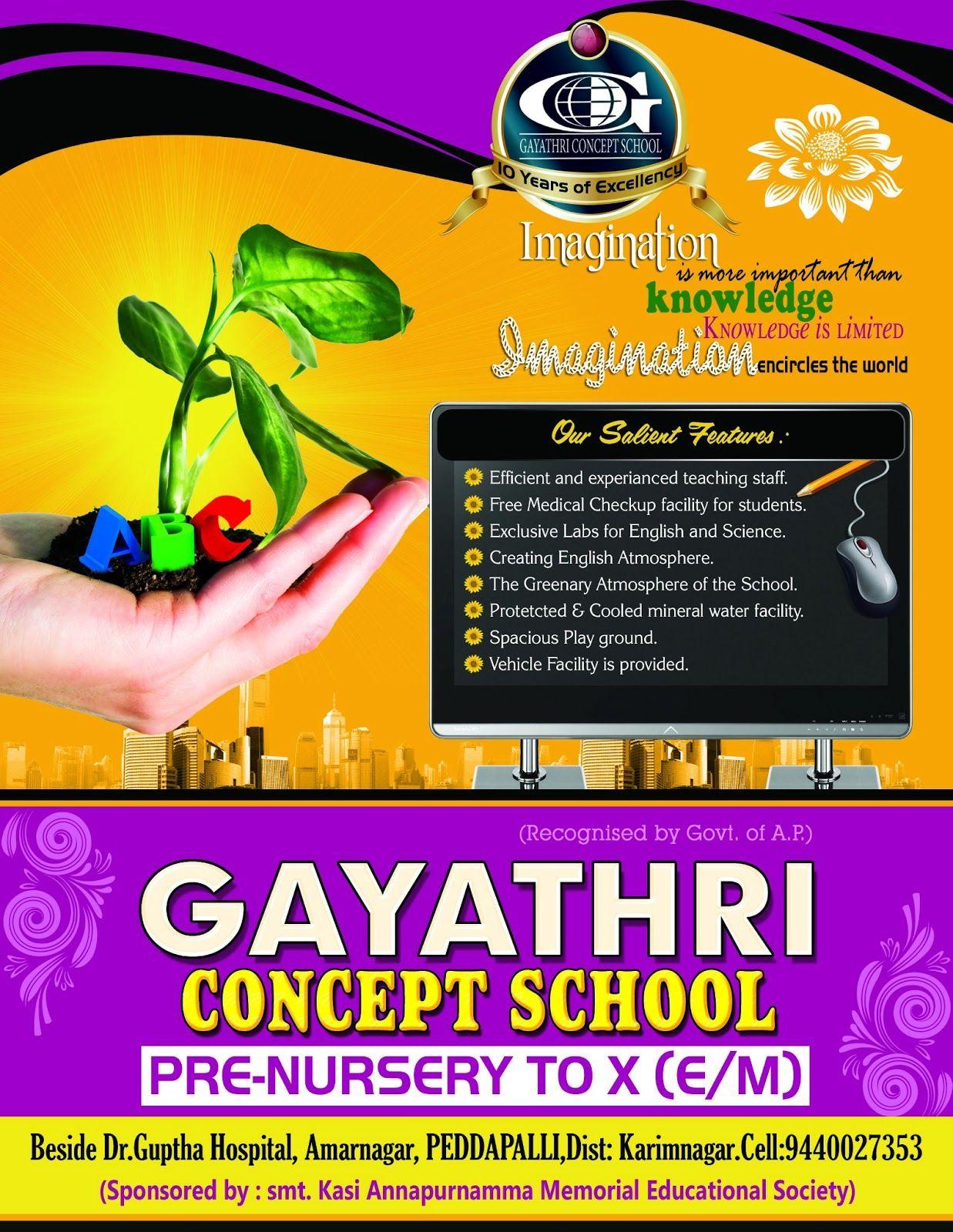 Gayatri School Brochure Template  Brochures