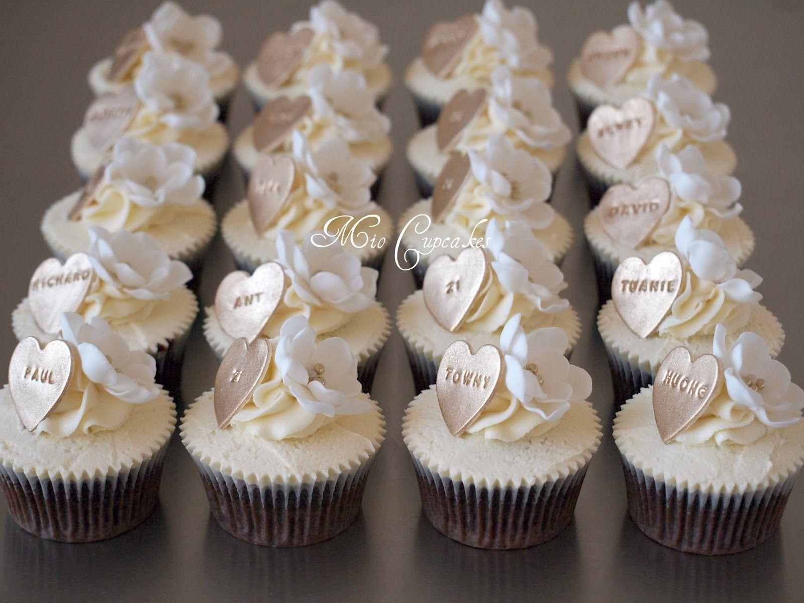 Perfect For Weddings Anniversaries White Cupcakeswedding