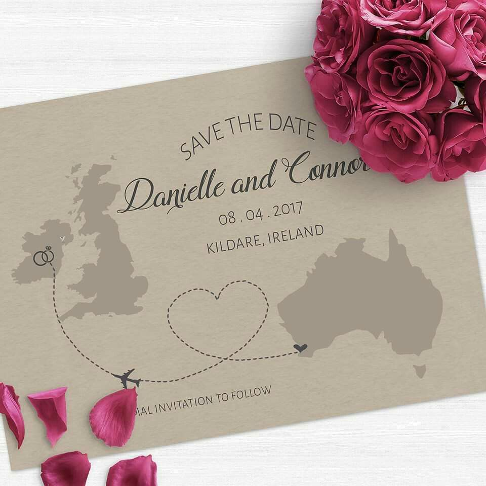 destination wedding save the dates and invitations%0A Gorgeous destination wedding Save the Date  Change invite to any country   Personalised to suit